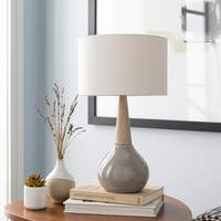 Peregrine 18.75 in. Gray Modern Table Lamp