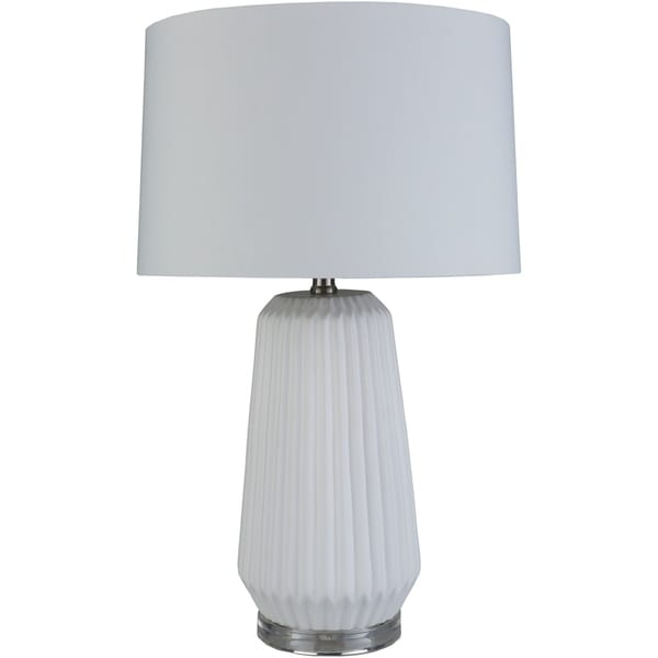 Amsel 25.5 in. White Modern Table Lamp