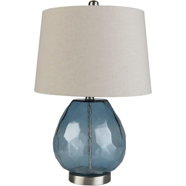 Jillian 21.8 in. Blue Transitional Table Lamp