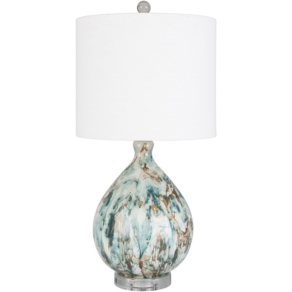 Aubrey 25 in. White Transitional Table Lamp