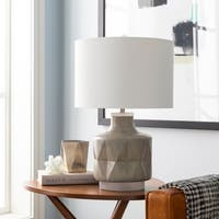Mika 24 in. Gray Modern Table Lamp