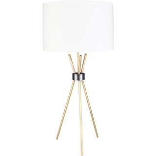 Page 35 in. White Modern Table Lamp