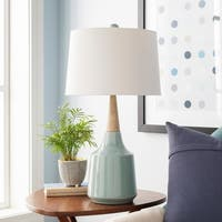 Peregrino 27.5 in. Blue Modern Table Lamp