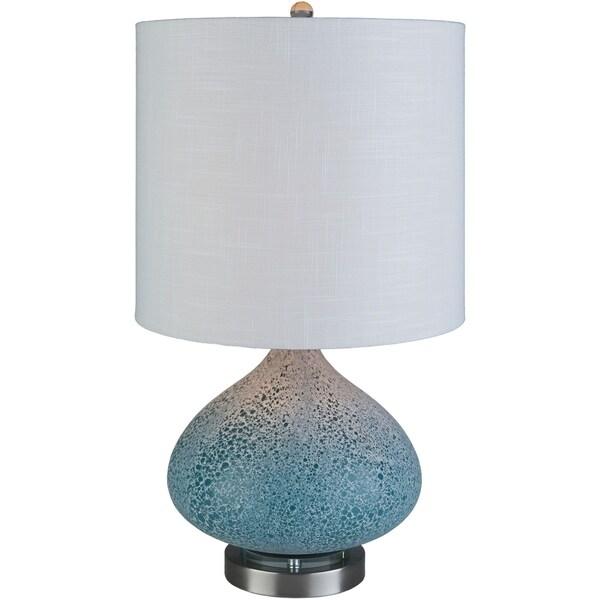 Keybridge 23.5 in. Blue Transitional Table Lamp