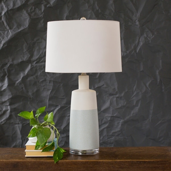 Oceane 26.5 in. Gray Transitional Table Lamp