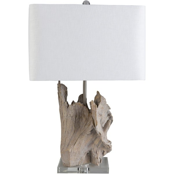 Drayton 26.25 in. White Transitional Table Lamp