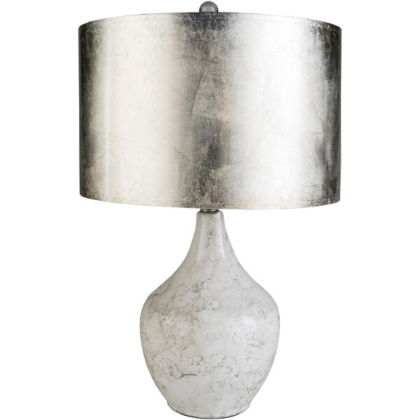 Novena 25 in. Silver Transitional Table Lamp