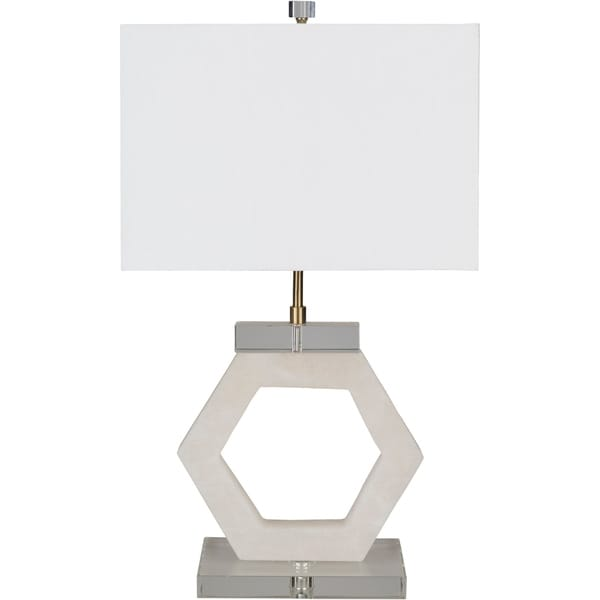 Hexcombe 28 in. White Modern Table Lamp
