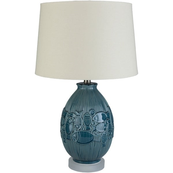 Luka 24.5 in. Blue Transitional Table Lamp