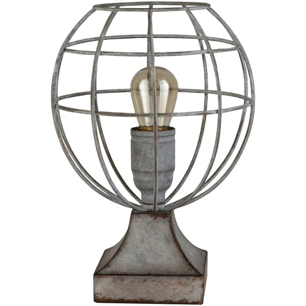 Rexford 10.6 in. Gray Modern Table Lamp