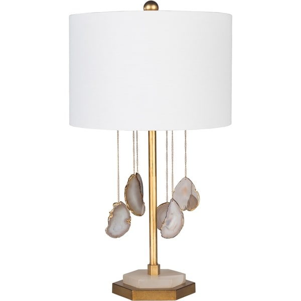 Merche 27.5 in. White Transitional Table Lamp