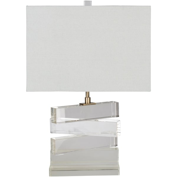 Pamplona 23.5 in. White Modern Table Lamp