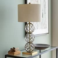 Alexina 29.5 in. White Transitional Table Lamp