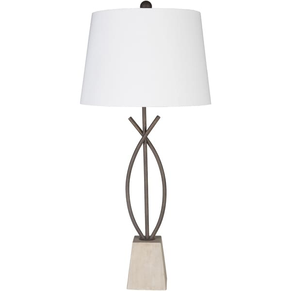 Carievale 35.5 in. White Transitional Table Lamp