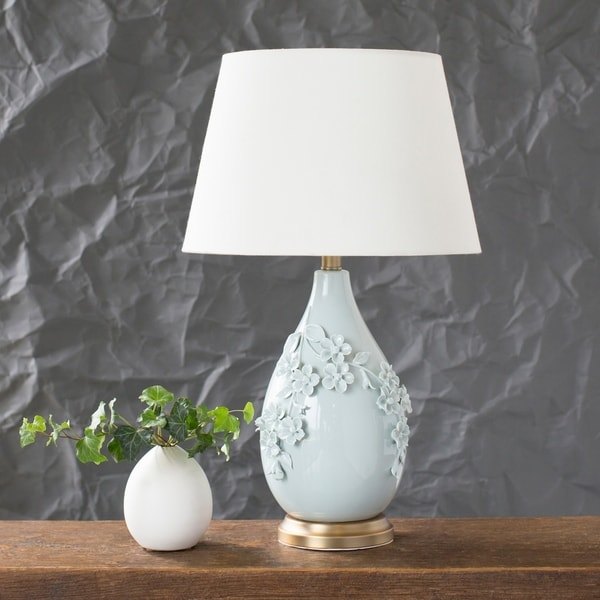 Vivianne 25.5 in. Blue Traditional Table Lamp