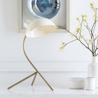 Pernille 20 in. White Modern Table Lamp