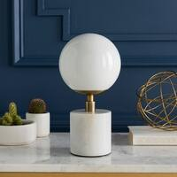 Marlowes 12.5 in. White Modern Table Lamp
