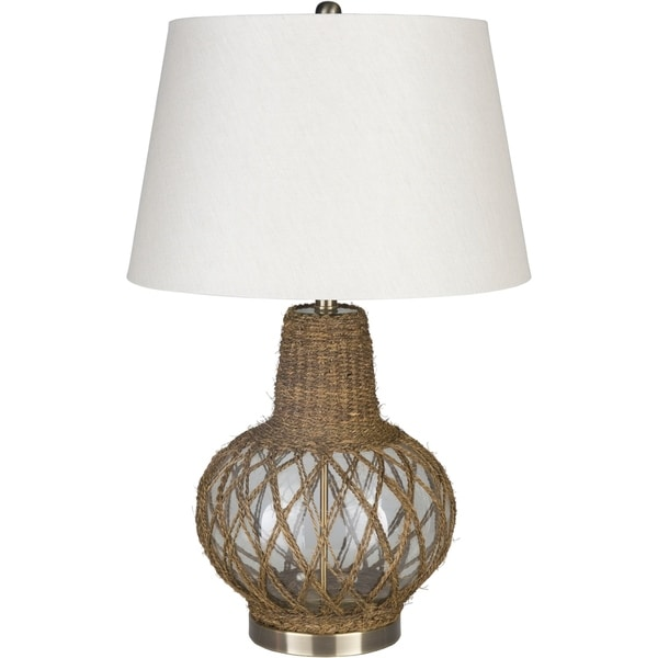 Oathlaw 28.5 in. White Transitional Table Lamp