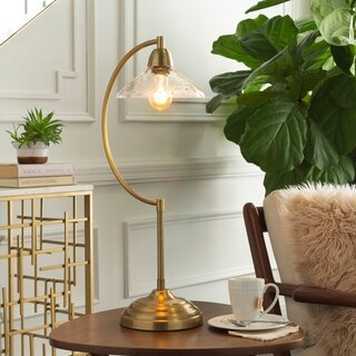 Arcios 27 in. Gold Modern Table Lamp