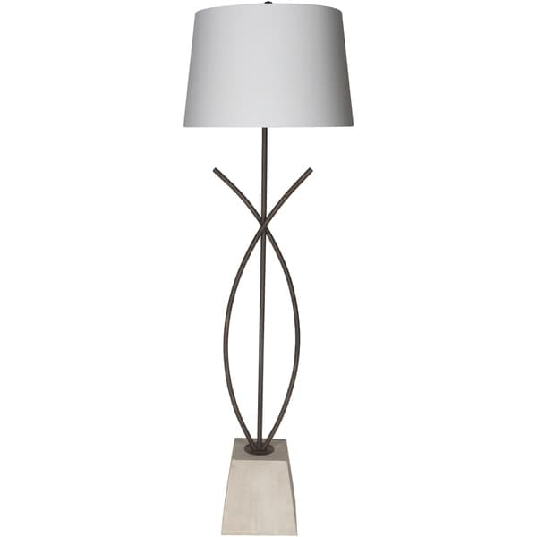 Carievalo 64 in. White Transitional Floor Lamp