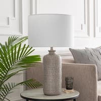Felindre 25.75 in. Gray Transitional Table Lamp