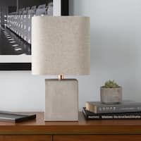 Voxmoor 18 in. Gray Modern Table Lamp
