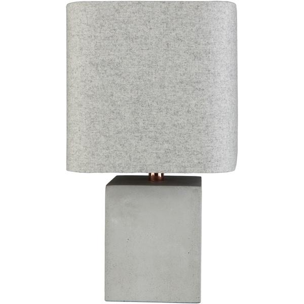 Voxmoor 18 in. Gray Modern Table Lamp