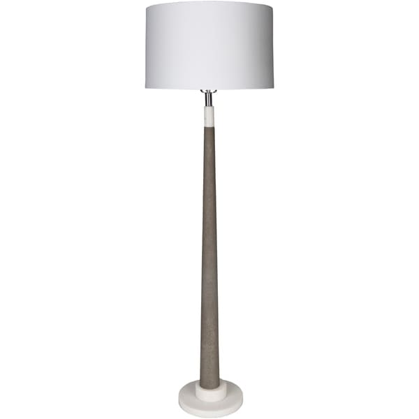 Donbury 63 in. White Transitional Floor Lamp