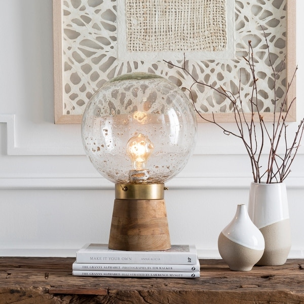 Shop Baptista 15 In Recycled Glass Globe Table Lamp On Sale