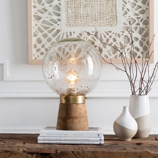Baptista 15 in. Recycled Glass Globe Table Lamp