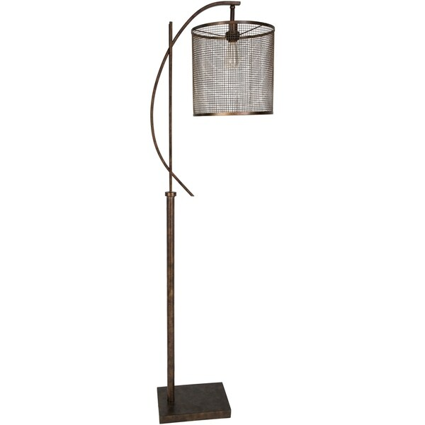 Cabot 65 in. Brown Modern Floor Lamp