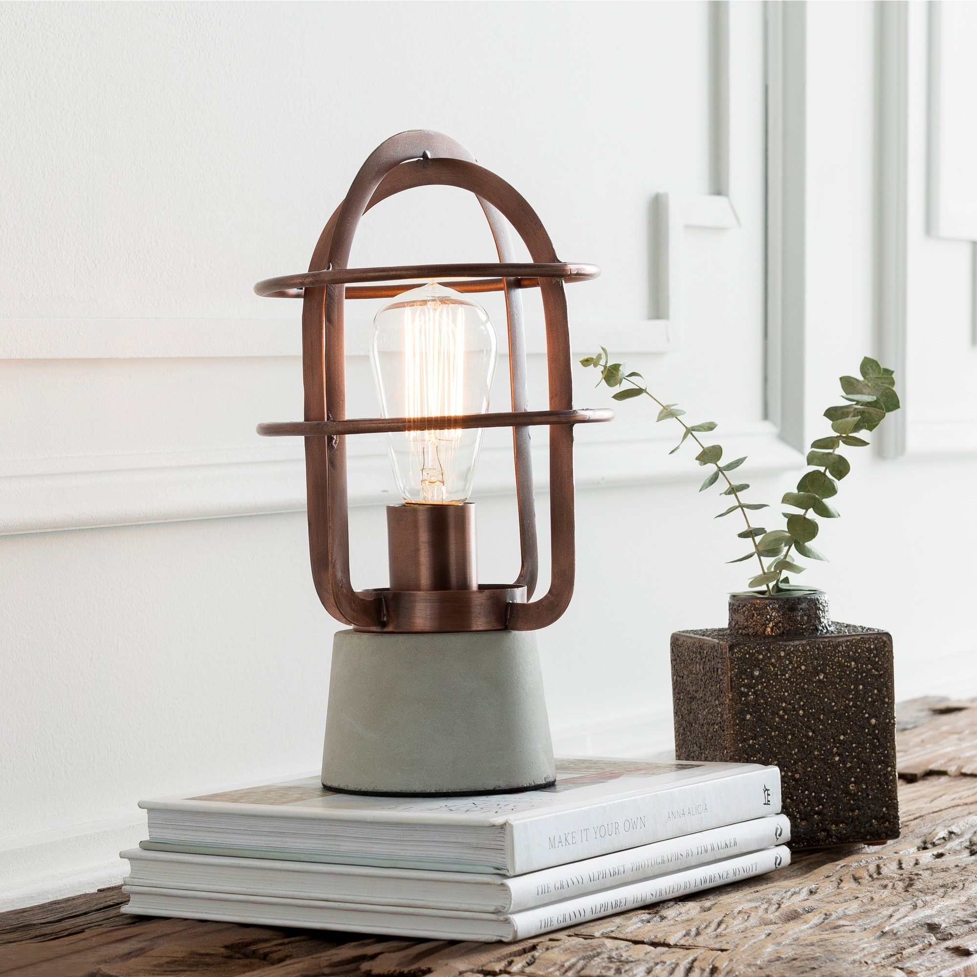 Shop Abrucena 11 5 In Copper Modern Table Lamp On Sale Free Shipping Today Overstock 18095127