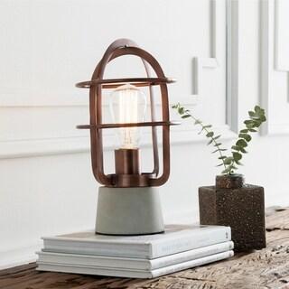 Abrucena 11.5 in. Copper Modern Table Lamp