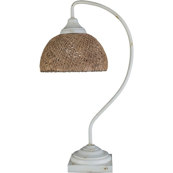 Dalneigh 25.25 in. White Transitional Table Lamp