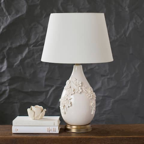 """Vivianne 25.5 in. White Traditional Table Lamp - 25.5"""" H"""