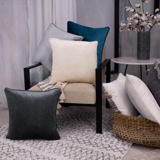 Lucas Solid Shiny Velvet 2-Piece Pillow Set