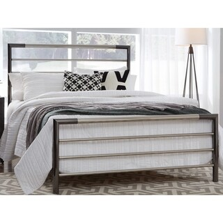 Fashion Bed Group Kenton Metal Bed in Chrome and Black Nickel Finish