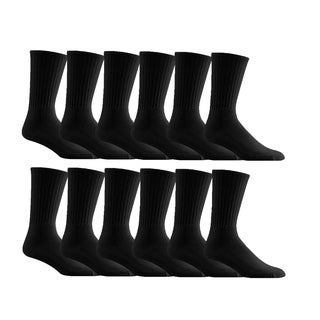 Cotton Sports Mens 12 Pack Crew Socks