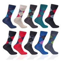 Taga Men's 12 Pack Assorted Argyle Dress Socks