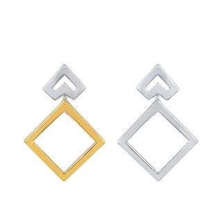 Boston Bay Diamonds Sterling Silver & 14K Yellow Gold Reversible Earrings