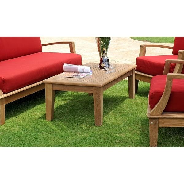 Teak Garden Coffee Table: Shop Grande Outdoor Teak Coffee Table