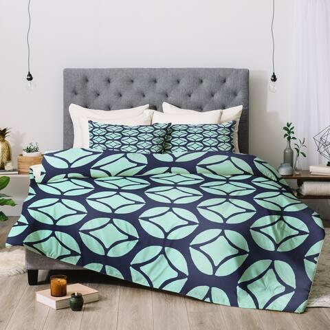 Allyson Johnson Bohemian Mod Blue Comforter Set -King