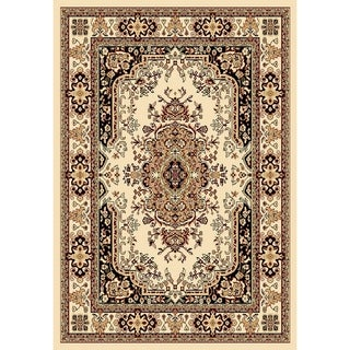 Chelsea Traditional Persian Medallion Ivory Area Rug (7'8 x 10'4)