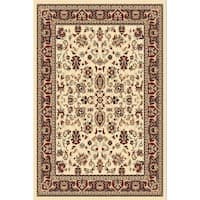 "Chelsea Traditional Oriental Ivory Area Rug - 6'7"" x 9'6"""