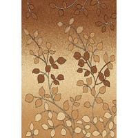 Chelsea Collection Cambria Beige/Ivory/Brown Floral Area Rug - 7'8 x 10'4