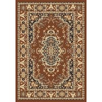 "Chelsea Traditional Persian Brown Area Rug - 6'7"" x 9'6"""