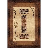 """Chelsea Collection Marlow Beige/Brown/Chocolate Indoor Rectangular Area Rug - 6'7"""" x 9'6"""""""