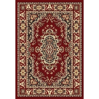 "Chelsea Traditional Persian Red Area Rug - 6'7"" x 9'6"""