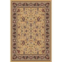 Chelsea Traditional Oriental Beige Area Rug - 7'8 x 10'4