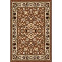 Chelsea Traditional Oriental Brown Area Rug - 9'2 x 12'6
